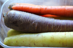 Purple and Green (Rainbow) Carrots