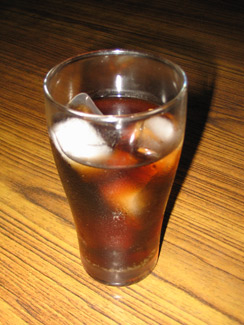 diet soda with ice