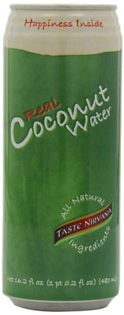 a green can of coconut water