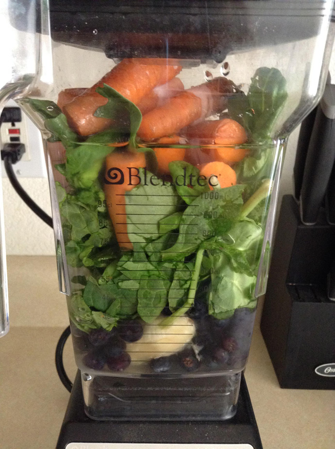 spinach-blender