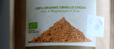 Raw organic criollo cocoa powder