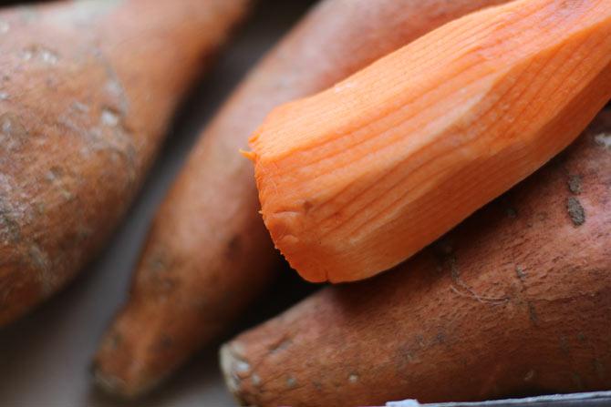 Sweet potato peeled, raw